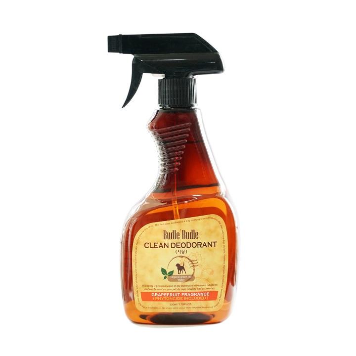 Xịt khử mùi dưỡng lông Budle'Budle Grapefruit 530ml