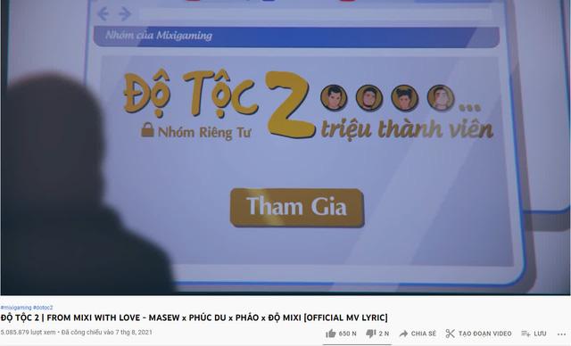 """MV của Độ Mixi đang rất hot trên YouTube, fan Lửa Chùa gây sốc, vào bình luận 1 câu cực """"chí mạng""""?"""