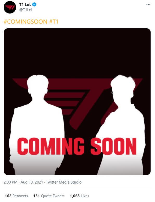 """T1 bất ngờ hé lộ 2 cái tên mới, nghi vấn Untara và Sky quay về """"mái nhà xưa"""""""