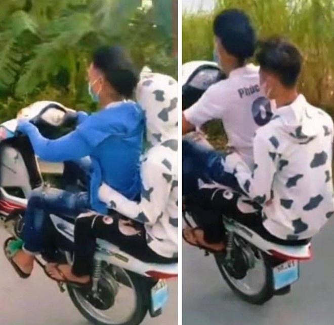 'Bốc đầu' xe máy, 6 thanh niên bị phạt hơn 11 triệu đồng