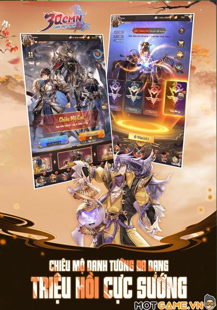 3Q CMN – Game thẻ tướng Tam Quốc phong cách nhàn rỗi
