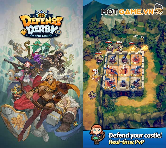 Defense Derby : Rule the Kingdom game thủ thành PvP thời gian thực!