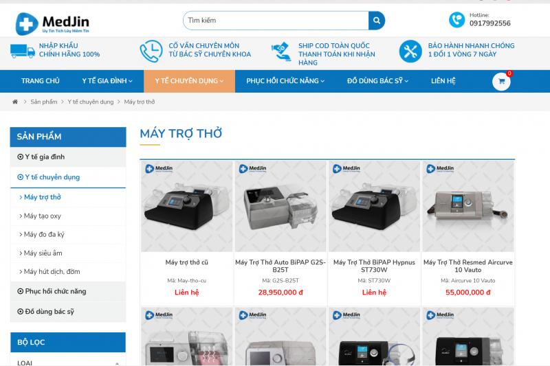 Top 5 địa chỉ bán Máy trợ thở uy tín nhất tại Hà Nội