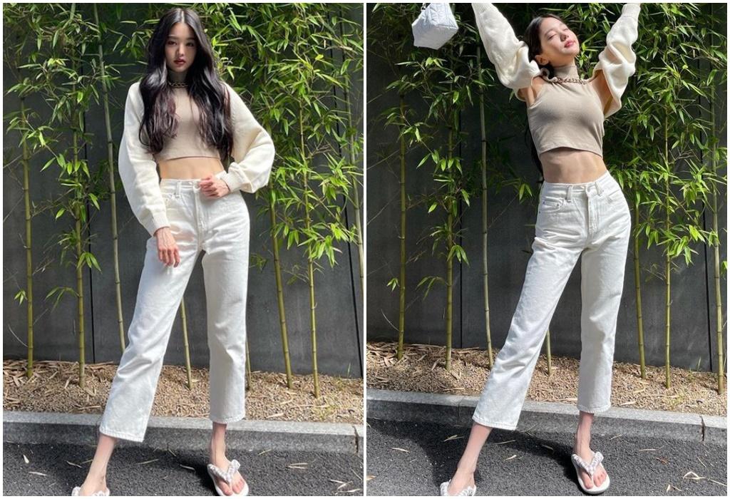 Vóc dáng như siêu mẫu của mỹ nhân Kpop 17 tuổi