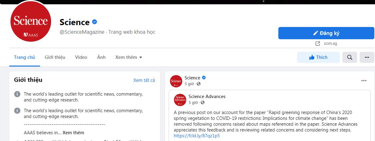 Các nhà khoa học VN phản đối 'đường lưỡi bò', tạp chí Science rút bài trên Facebook