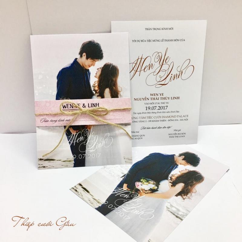 Top 9 Nhà cung cấp thiệp cưới đẹp, phong cách tại Hà Nội