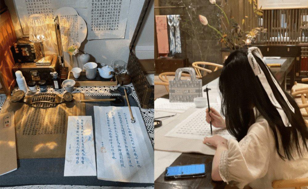 Trào lưu sống ảo ở cửa chùa của hot girl Trung Quốc