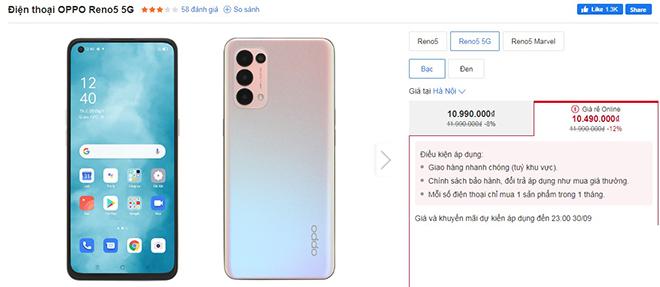 """Top 4 điện thoại 5G chơi game """"chất"""" đang giảm giá nhiều nhất"""