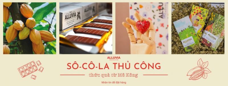 Alluvia Chocolate được làm từ  ca cao nguyên chất