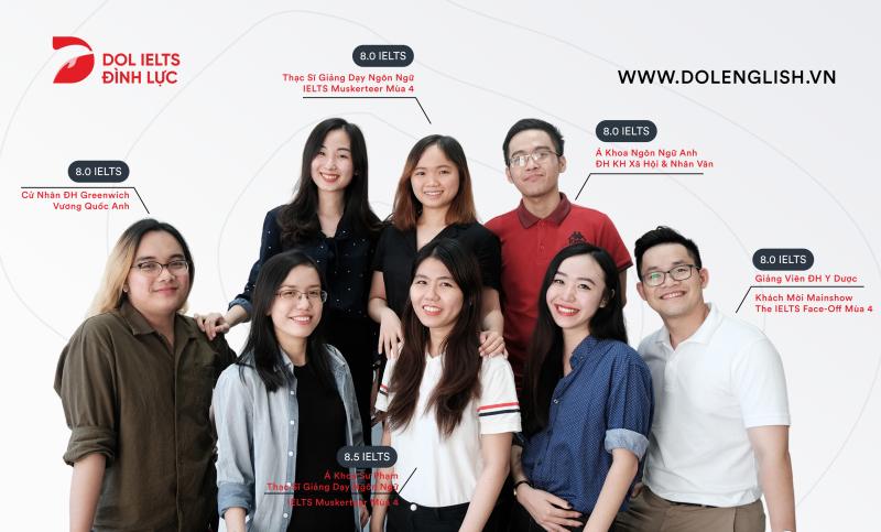 Đội ngũ giáo viên tại DOL IELTS Đình Lực - Học Viện Tiếng Anh Tư Duy đầu tiên tại Việt Nam