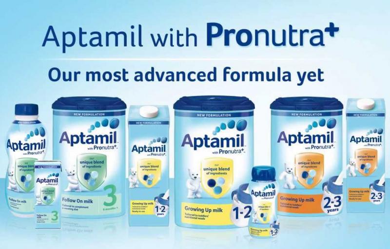 Sản phẩm sữa Aptamil.