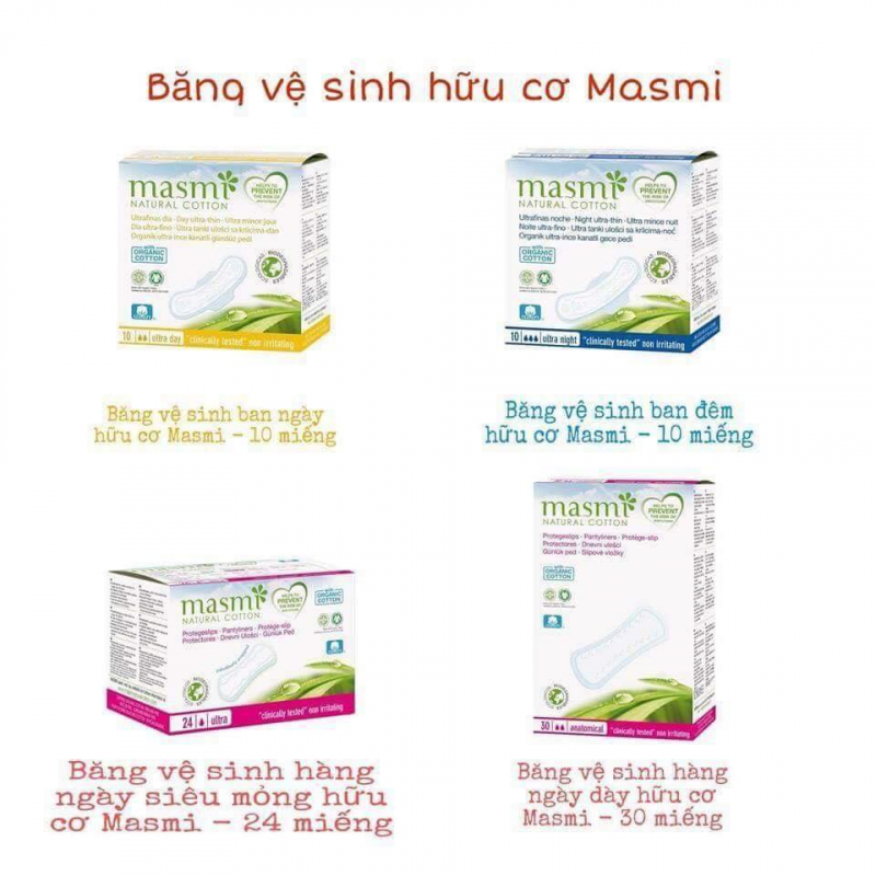 Băng vệ sinh hữu cơ Masmi