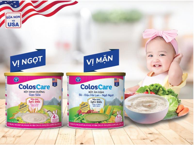 Bột ăn dặm ColosCare - bổ sung sữa non 24h từ Mỹ