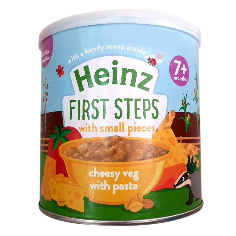 Bột ăn dặm Heinz vị mỳ ý rau phô mai 200g (cho bé > 7 tháng)