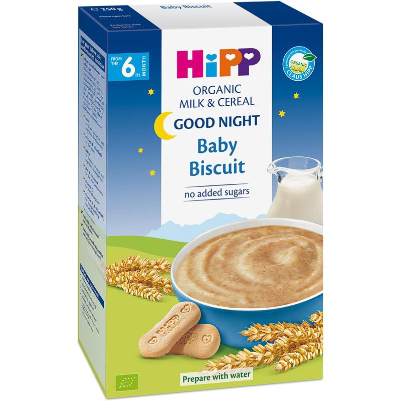 Bột HiPP sữa bích quy cho bữa ăn dặm của bé thêm ngon miệng