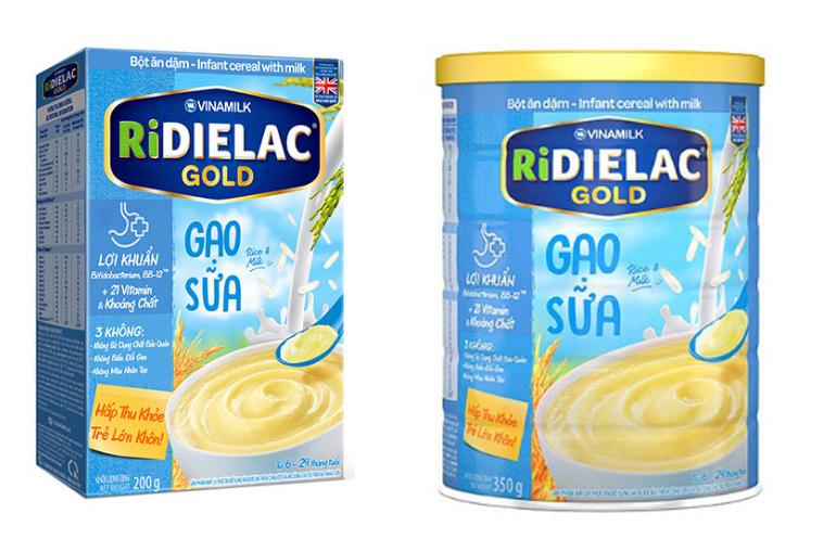 Bột ăn dặm Ridielac Gold gạo sữa