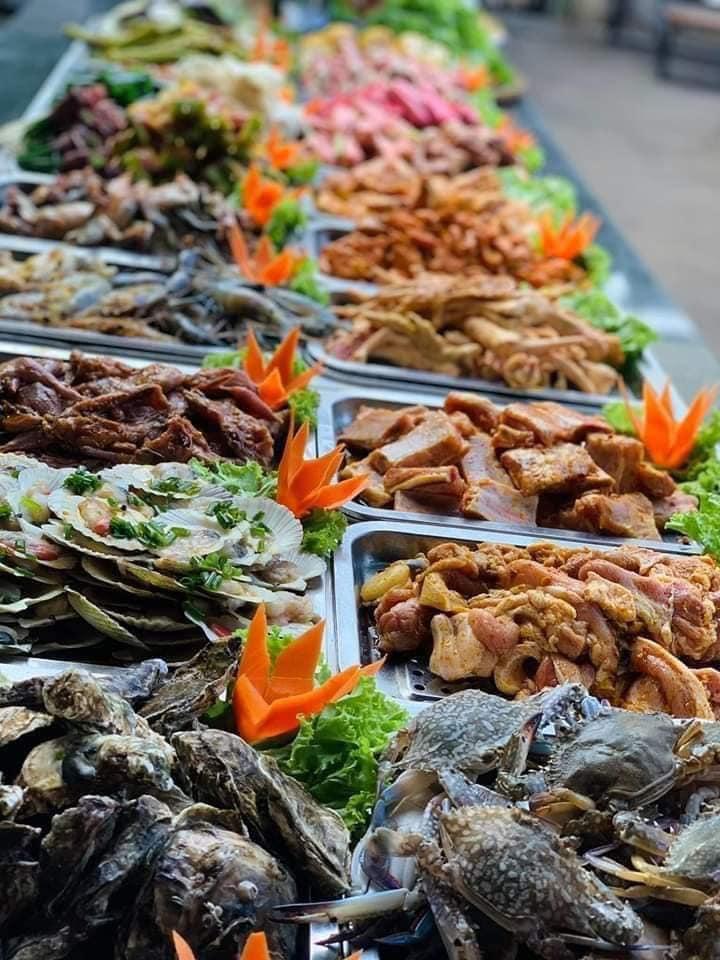 Buffet BBQ 99k PHÚ CHÁNH có menu đồ nướng rất đa dạng
