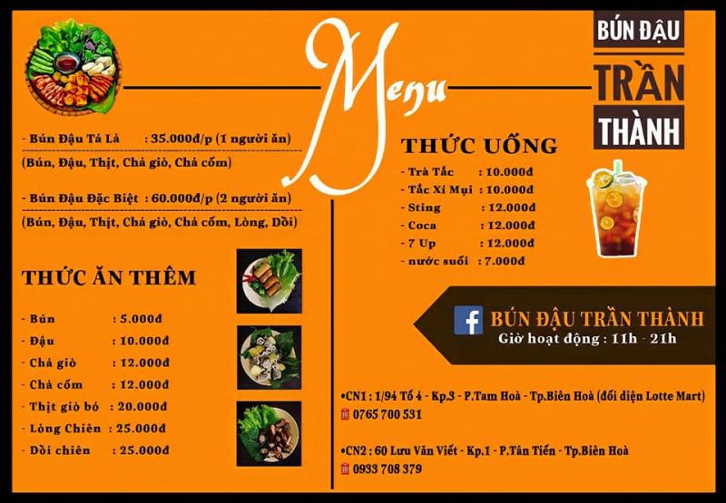 Top 8 Quán bún đậu mắm tôm ngon nhất TP. Biên Hòa, Đồng Nai