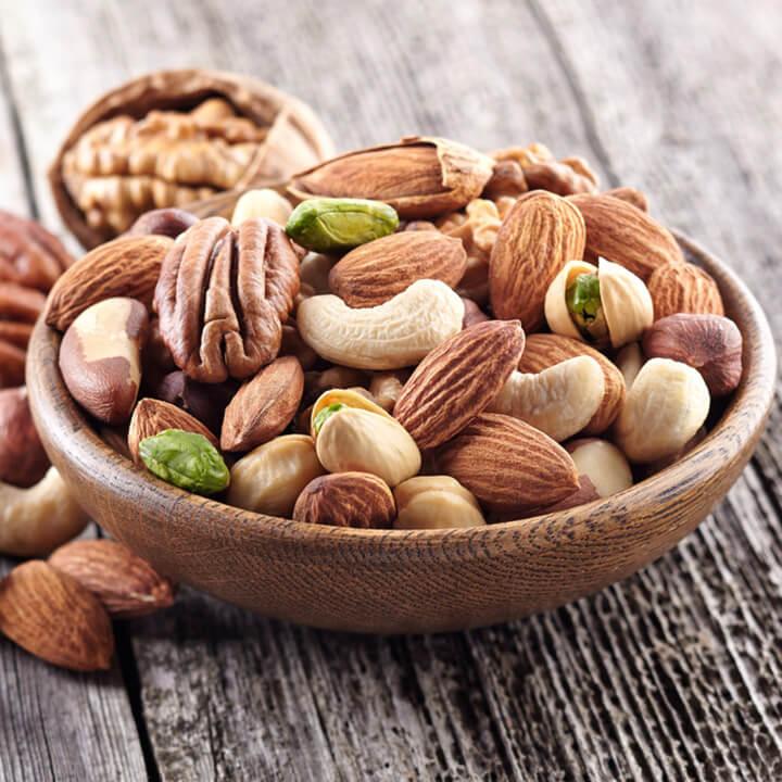Các loại hạt (đậu, đỗ, hạt dẻ, hạnh nhân, lạc,...)