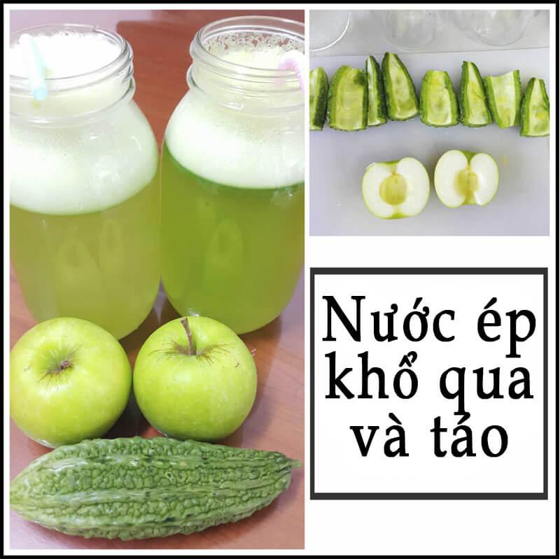 Cách giảm cân bằng nước ép khổ qua và táo