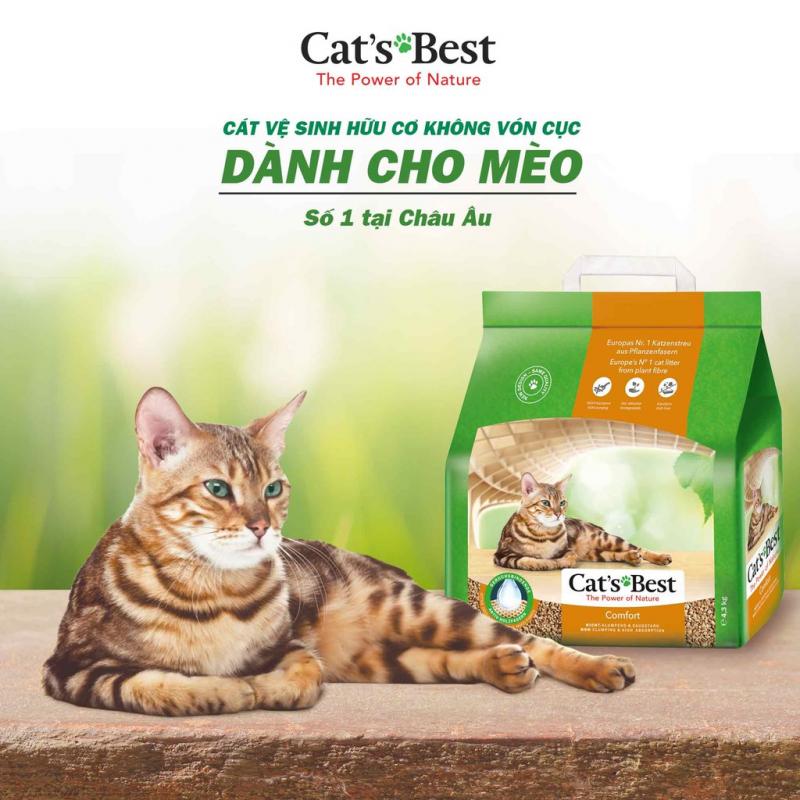 Cát vệ sinh hữu cơ cho mèo Cat'sBest
