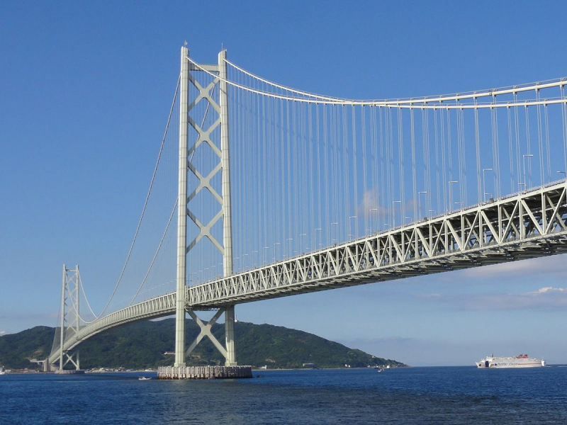 Cầu Akashi Kaikyo - Nhật Bản