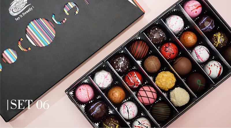 Sản phẩm của Chocolate Graphics  được làm bởi nguyên liệu cao cấp từ Bỉ với nhiều hương vị cao cấp: Hạnh nhân, Hạt dẻ, Caramel, Tiramisu, Dâu rừng, Café, Chocolate dừa….