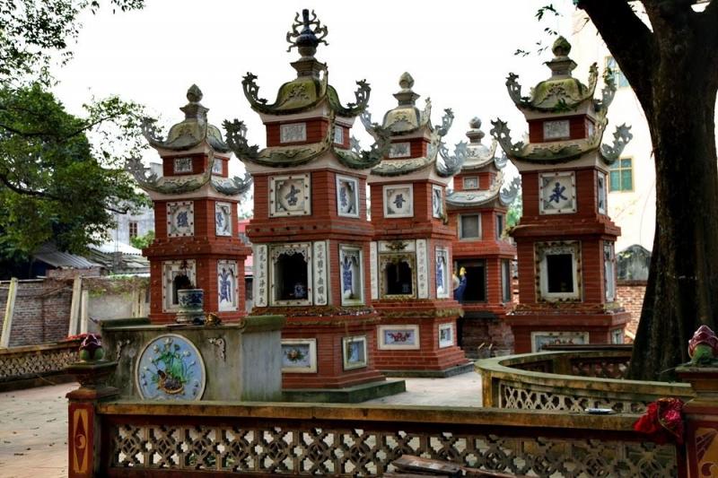 Một góc trong di tích chùa Cổ Loa