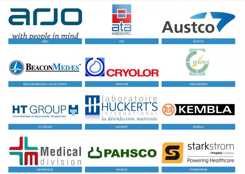 Các thương hiệu nổi tiêng mà SAGOMED nhập trang thiết bị