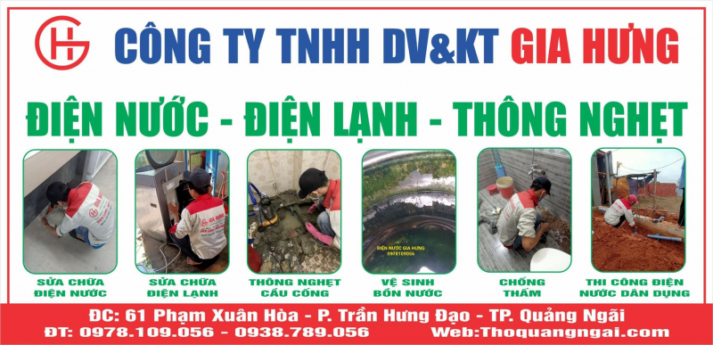 Top 5 Dịch vụ sửa chữa điện nước uy tín nhất tỉnh Quảng Ngãi