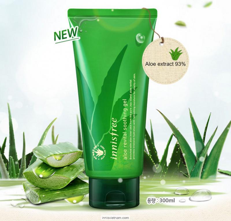 Gel làm dịu đa năng nha đam innisfree Aloe Revital Soothing Gel 300ml