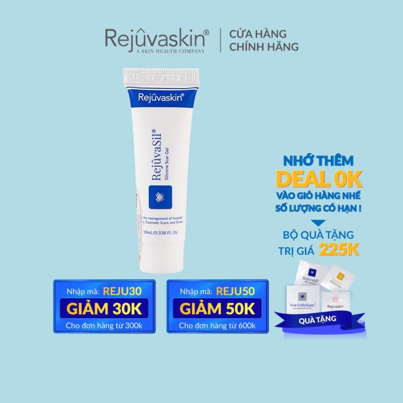 Gel ngăn ngừa sẹo và làm xẹp sẹo lồi, sẹo phì đại REJUVASKIN Rejuvasil