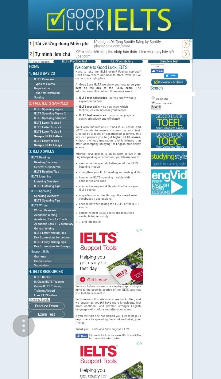 Giao diện của website
