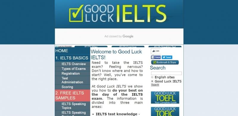 Giao diện của Goodluck IELTS dễ hiểu và rõ ràng