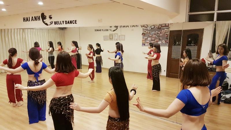 Một buổi học tại Hải Anh Belly Dance