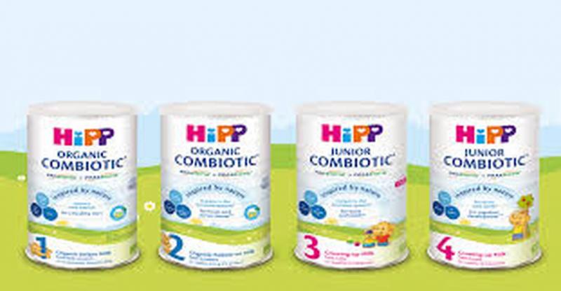 Sữa HiPP dành cho các lứa tuổi.