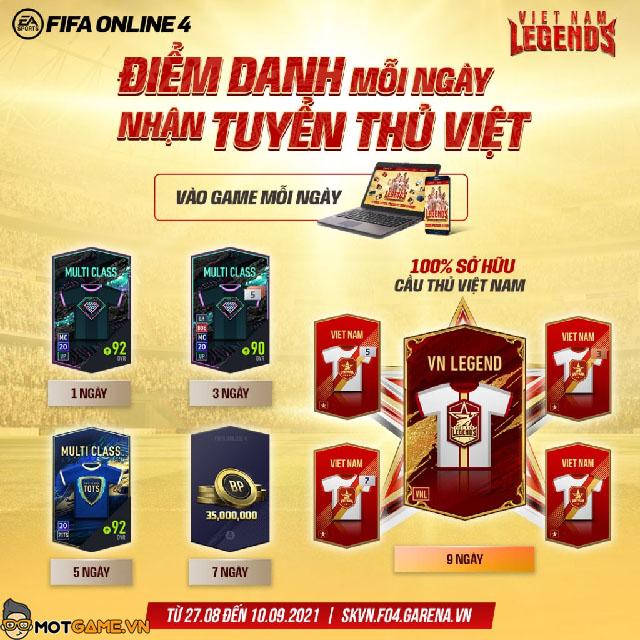 Hướng dẫn cách nhận cầu thủ Vietnam Legends trong FIFA Online 4