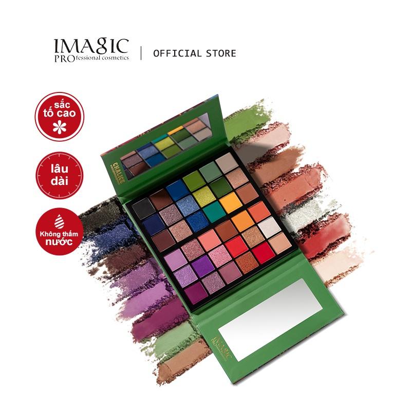 IMAGIC Bảng Phấn Mắt 36 Màu Lì Và Ánh Nhũ Kết Hợp Trang Điểm Mắt Nổi Bật 240g