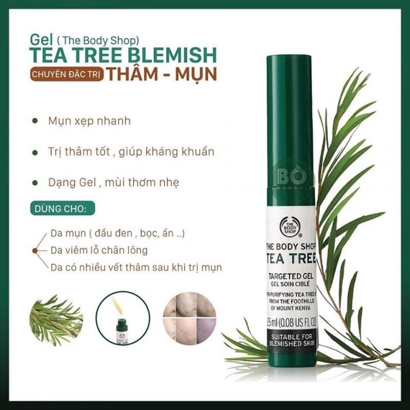 Gel làm mờ vết thâm The Body Shop Tea Tree targeted gel
