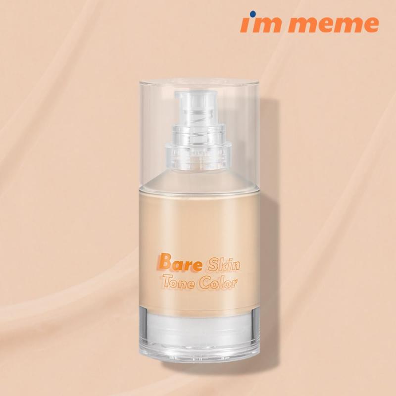 Kem Nền Che Phủ Hoàn Hảo, Mỏng Nhẹ Tự Nhiên I'm Meme I'm Bare Skin Tone Color SPF45/PA++