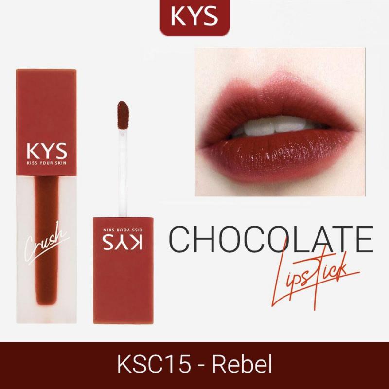 Son Kem Lì Lâu Trôi Cherry Rush Chocolate Không Chì KYS Crush