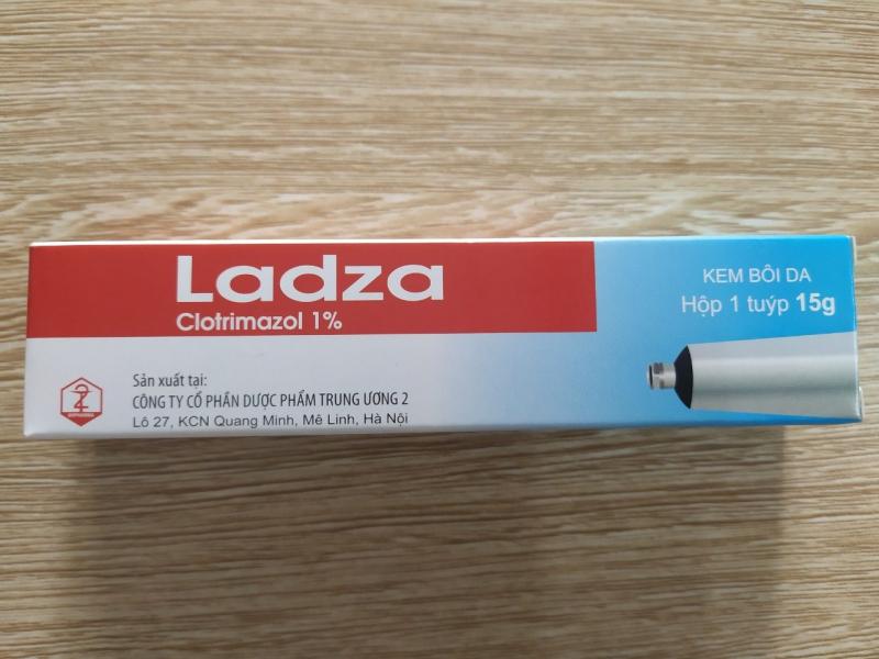 Ladza cream - Clotrimazol 1% - Kem bôi da, đặc trị tạo chỗ các bệnh nấm da