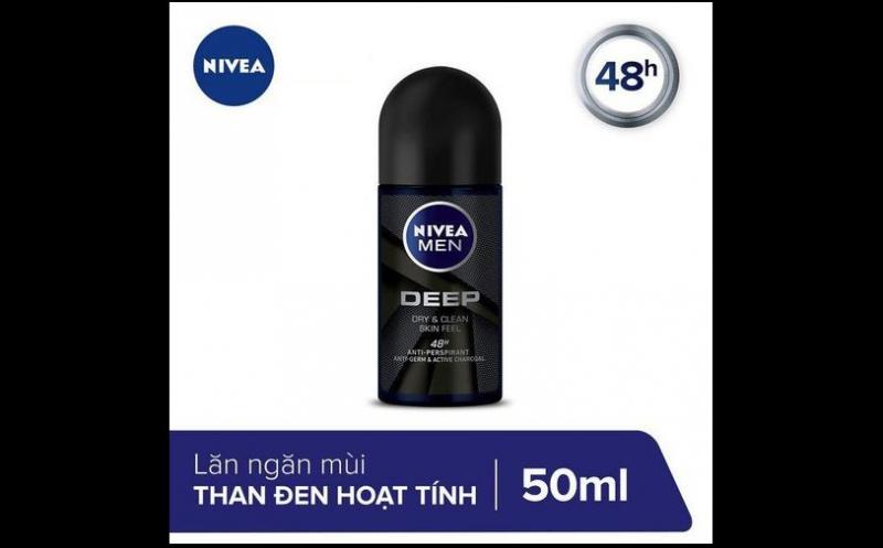 Lăn ngăn mùi Nivea Men than hoạt tính