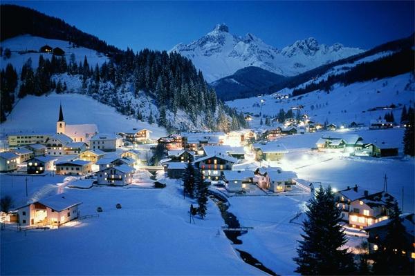 Mùa đông ở Làng Hallstatt