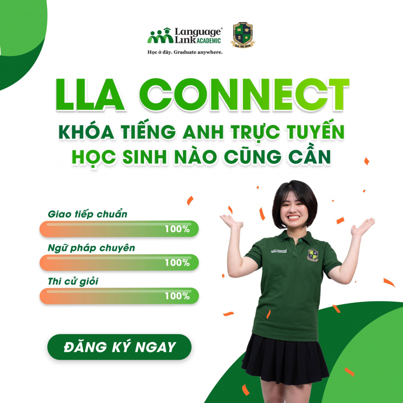 Vừa học trực tuyến không gián đoạn vừa trau dồi đủ bộ kỹ năng tiếng Anh: Giao tiếp - Ngữ pháp & Thi cử! Language Link