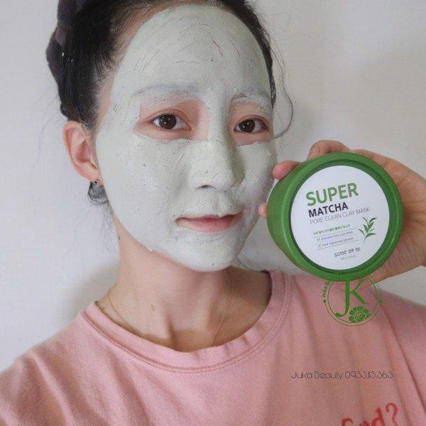 Mặt Nạ Đất Sét Giúp Se Khít Lỗ Chân Lông Some By Mi Super Matcha Pore Clean Clay Mask