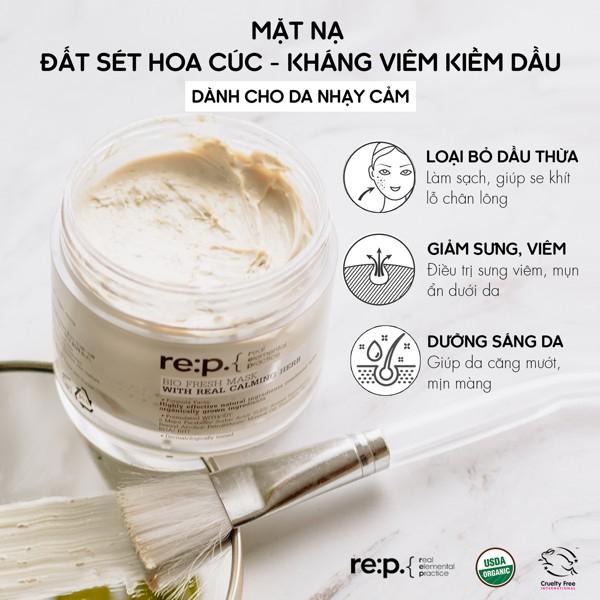 Mặt Nạ Đất Sét Hữu Cơ RE:P Bio Fresh Mask With Rep Real Herbs