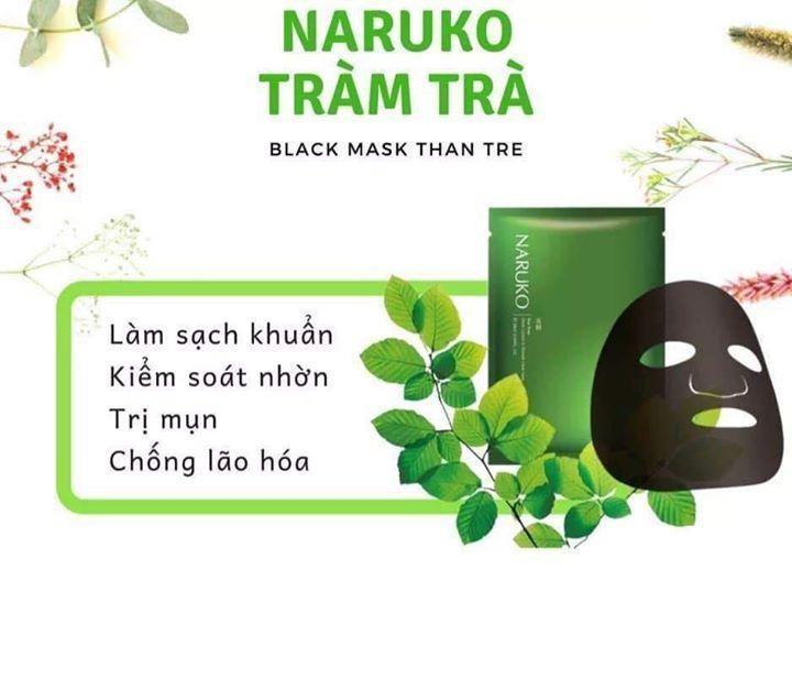Mặt nạ kiểm soát dầu và mụn trà tràm Naruko Tea Tree 26ml/m
