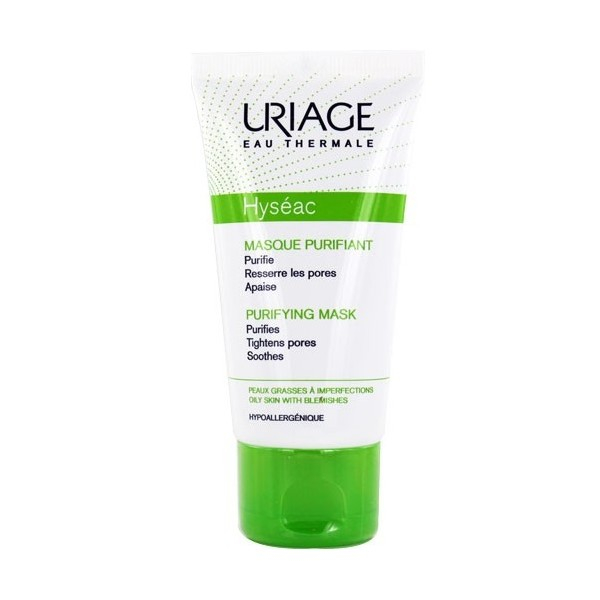 Mặt nạ, tẩy tế bào chết dành cho da dầu, da mụn, hỗ trợ dưỡng da, ngăn ngừa mụn URIAGE HYSÉAC MASQUE GOMMANT