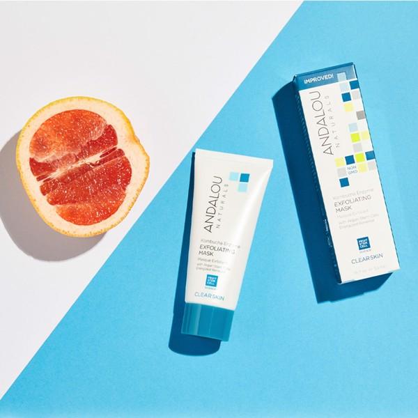 Mặt Nạ Làm Sạch Tế Bào Chết Cho Da Dầu Andalou Naturals Clear Skin Kombucha Enzyme Exfoliating Mask